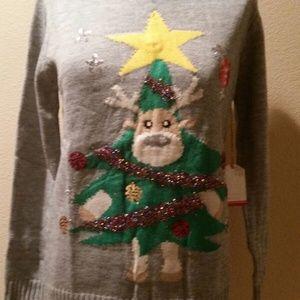 NWT light up reindeer sweater